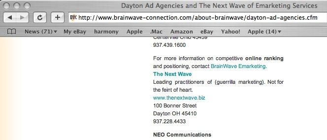 The Next Wave, Dayton's Guerrilla Marketing Agency