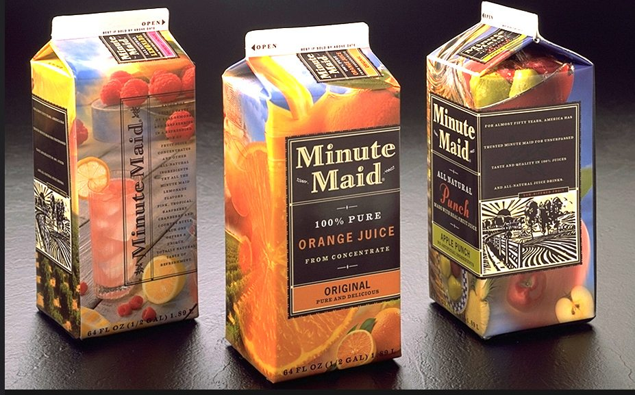 Minute Maid Packaging by Duffy and Partners