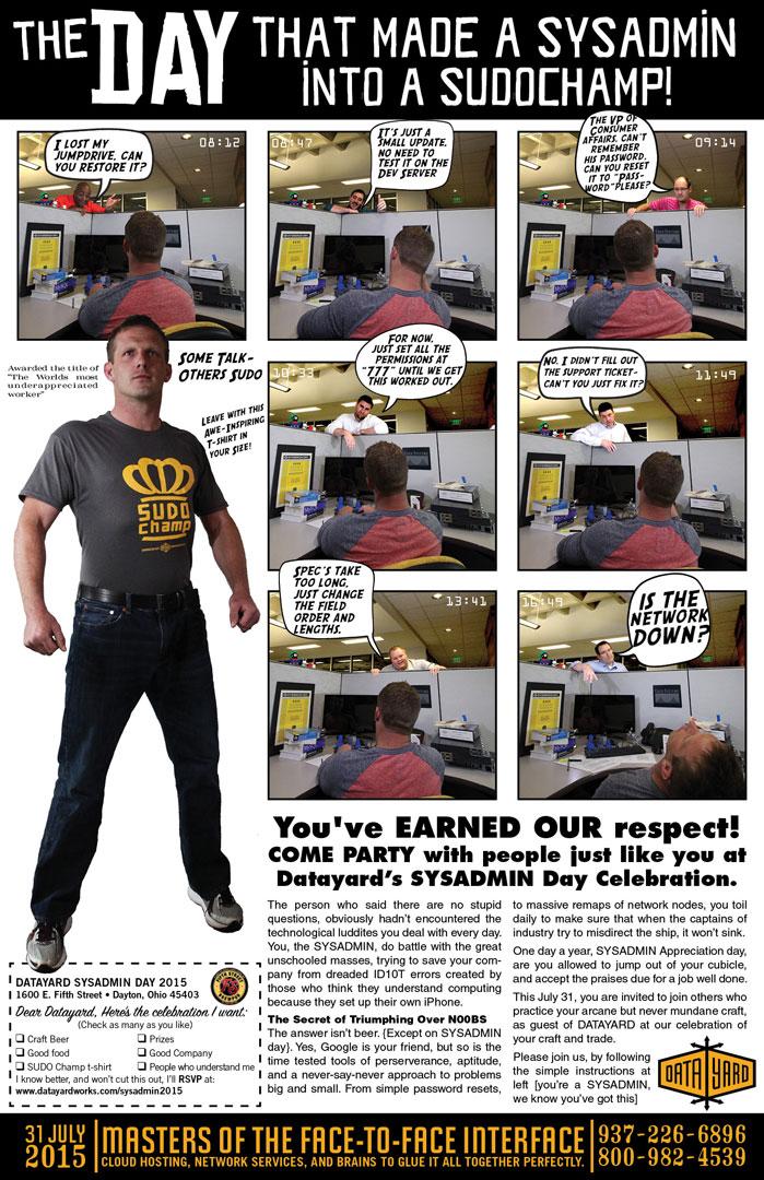 DataYard SysAdmin Day Poster