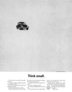 Think Small VW ad by DDB