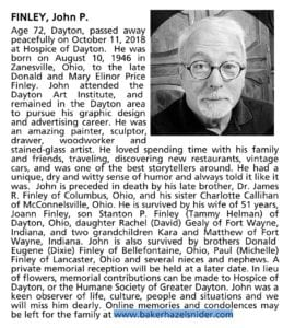 John Finley Obituary