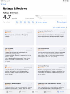 NY Times app gets 1 star reviews after interface change