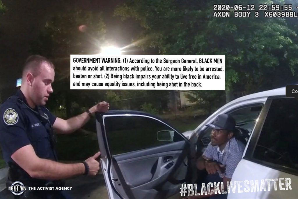 Governement warning on black men interacting with polices