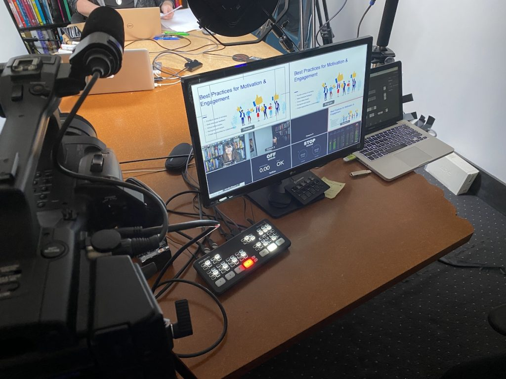 A livestream setup for WebEx