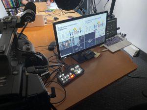 A livestream setup for WebEx