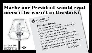 Microsun ad for President Trump