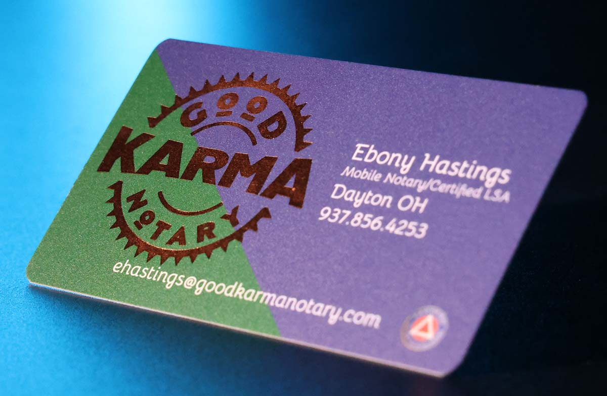 Good Karma Notary card front